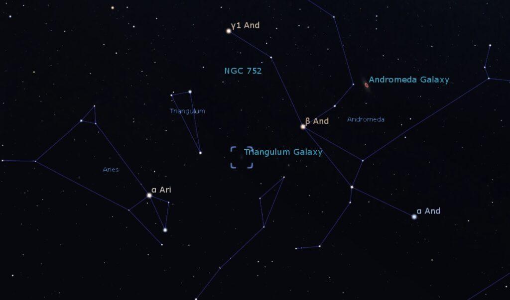 Location of M33 - Triangulum Galaxy