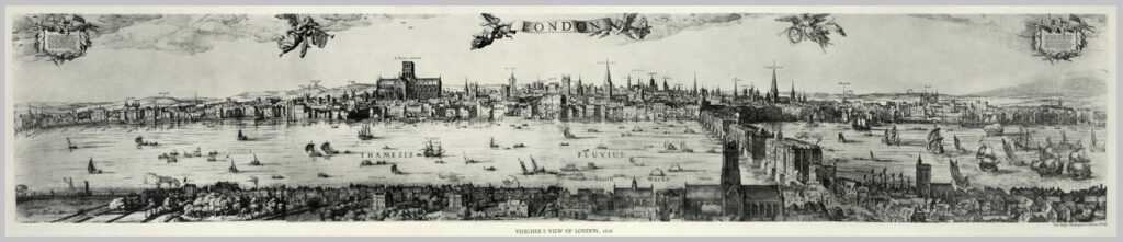 This sketch of London in the early seventeenth century illustrates the common nature of execution at that time. Note the near end of the bridge.