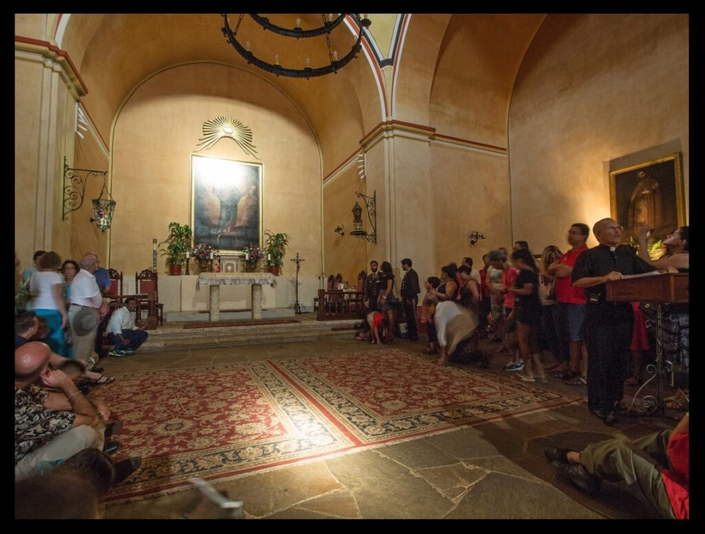 The sun illuminating the interior of the church at Mission Concepción on August 15, 2015. Photograph courtesy of Fr. David Garcia—used with permission.