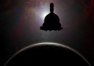 New Horizons over Pluto's dark side