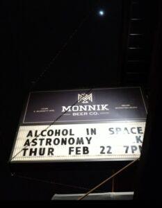 Monnik advertising a talk on