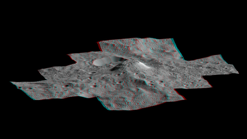 Ahuna Mons in 3-D.