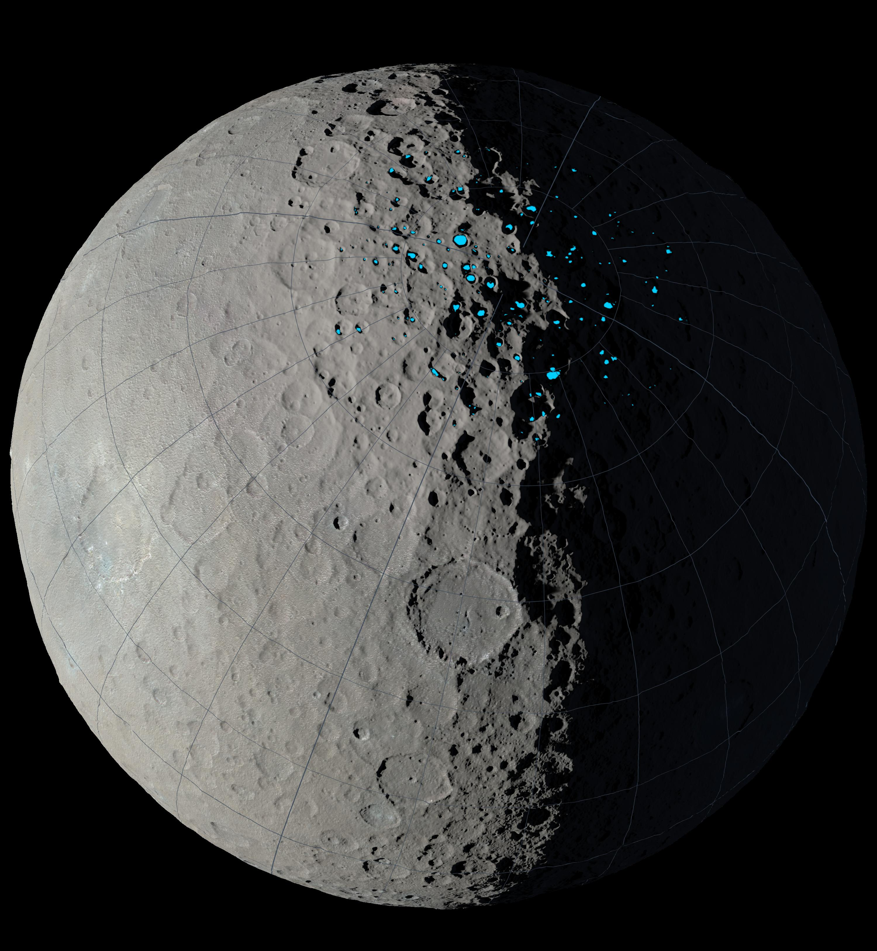Shadowed Craters on Ceres