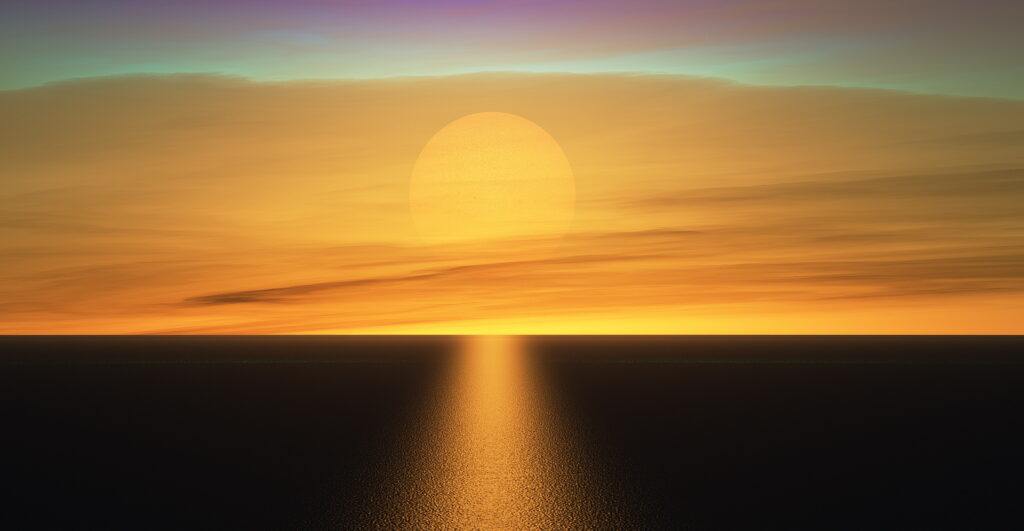 Sunset on YZ Ceti b