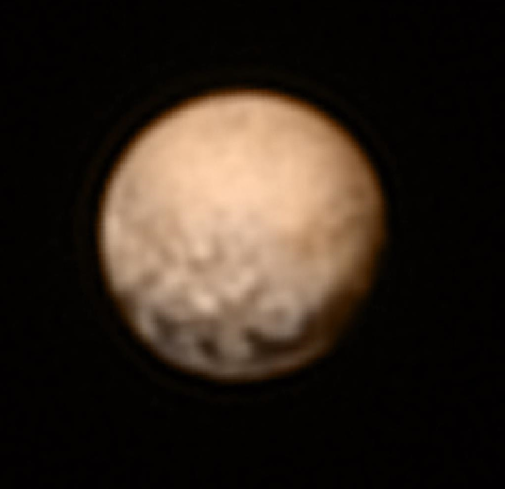 Color image of Pluto taken July 3, 2015 by the New Horizons mission. Credit: NASA/Johns Hopkins University Applied Physics Laboratory/Southwest Research Institute