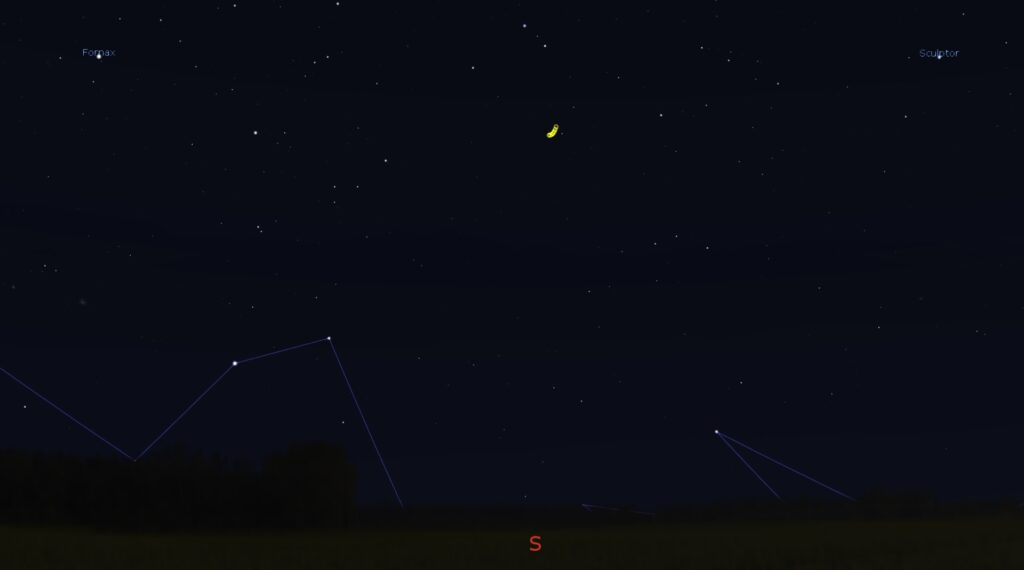 Position of Comet 46P Wirtanen