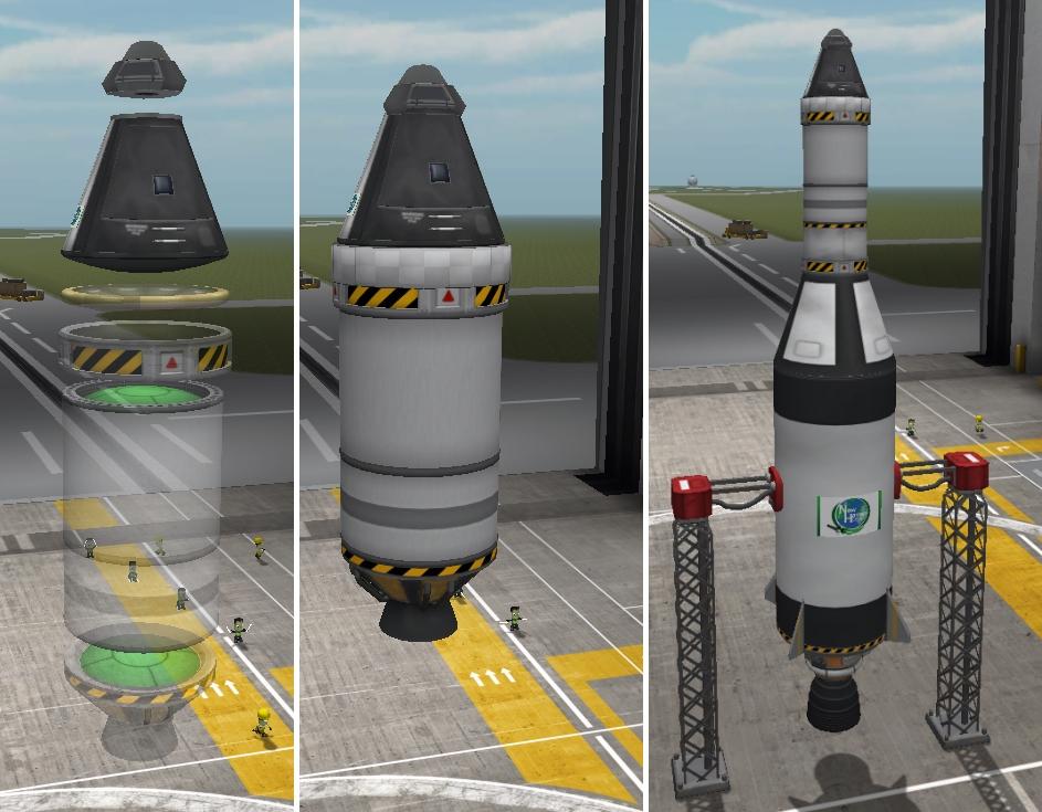 Rocket Building in Kerbal Space Program.