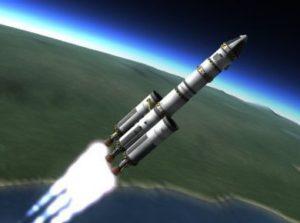 Rocket going into orbit