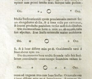 The moons of Jupiter as illustrated by Galileo in his 1610 Sidereus Nuncius.