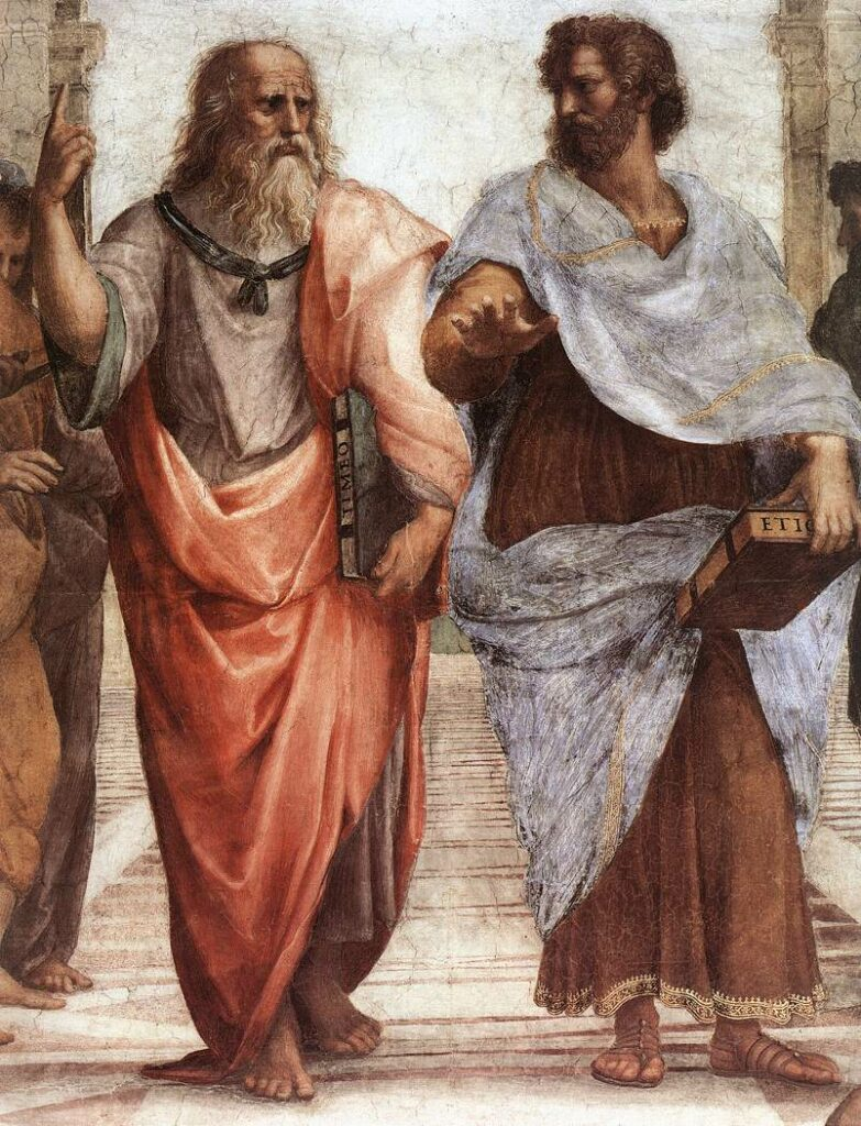 Image of Plato and Aristotle from Wikipedia.