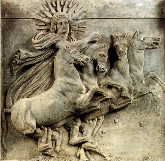 Helios, the Greek Sun God.