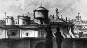 Secchi's observatory atop St. Ignatius church in Rome.
