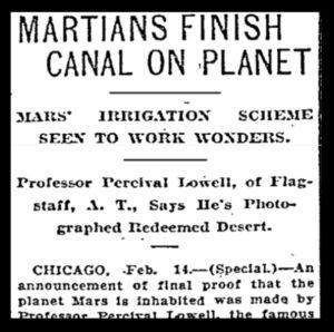 Headline from the Portland Oregonian, February 15, 1910