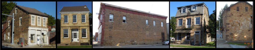 Five other stone buildings in Cannelton.