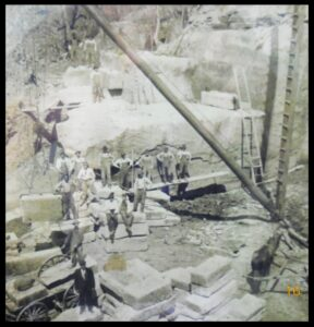 Workers at the Cannelton quarry.*