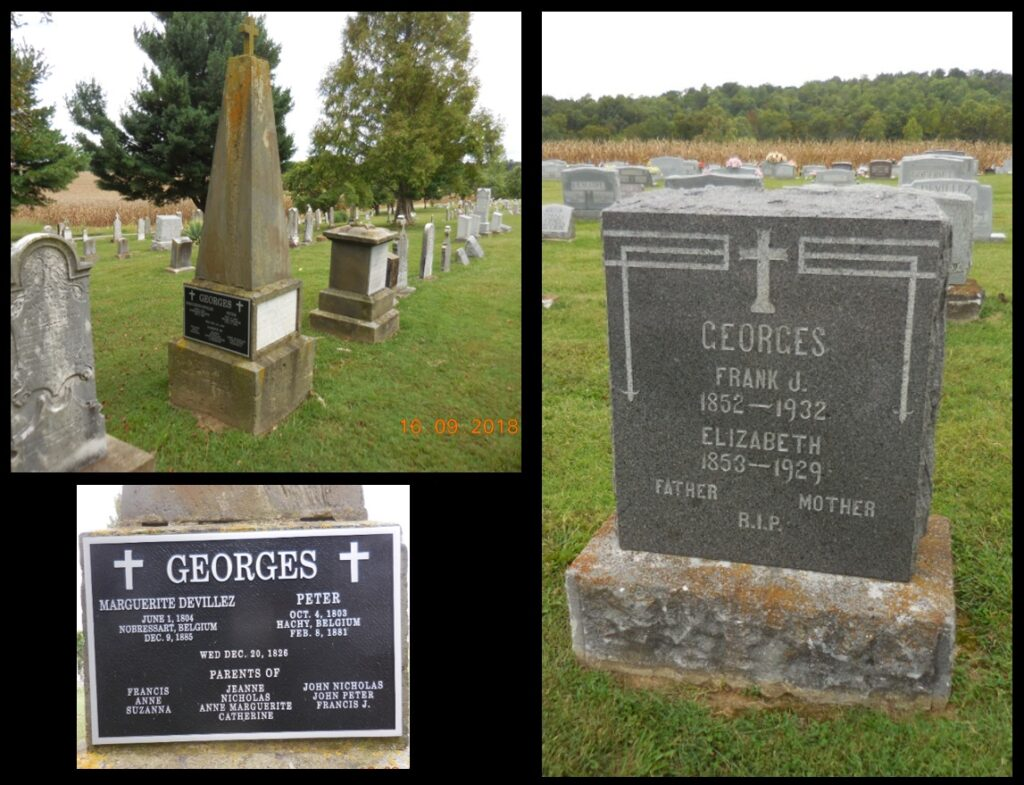 Peter George and Frank L. George are both buried with their spouses in the St. Augustine cemetery.