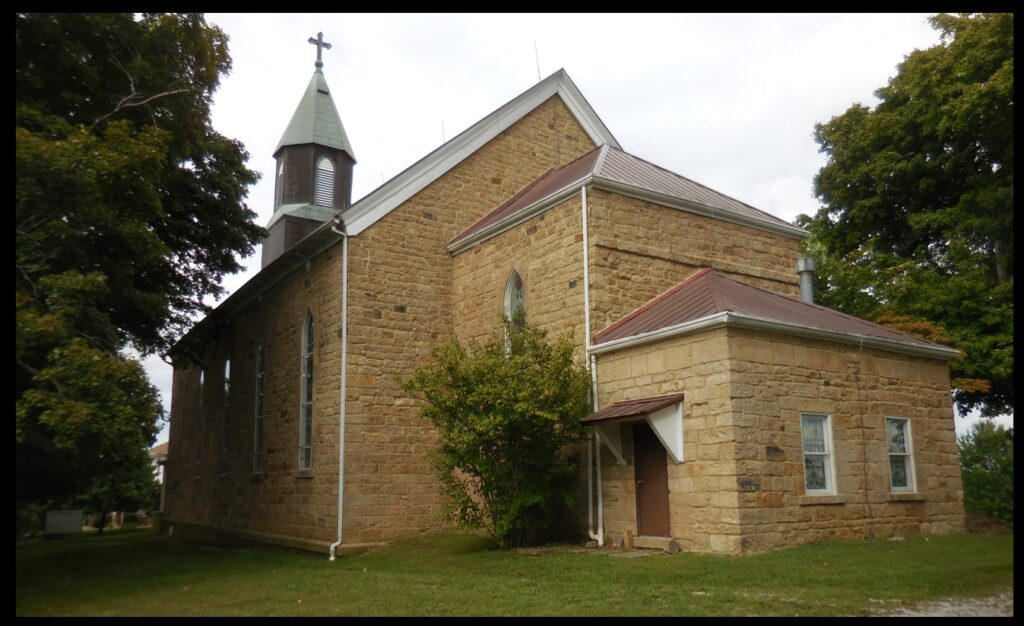 St. Augustine Church, in Leopold, Indiana. This church was built by the George family.