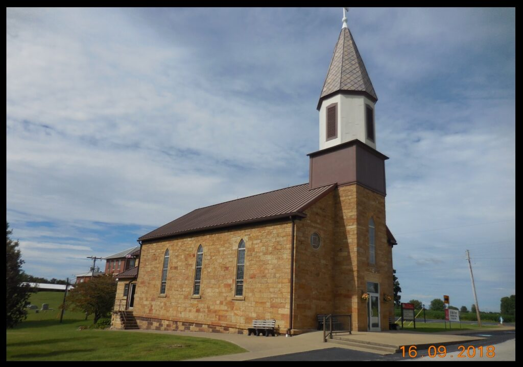 St. Mark Church, in Perry County north of Troy. The date on its corner stone is 1868.