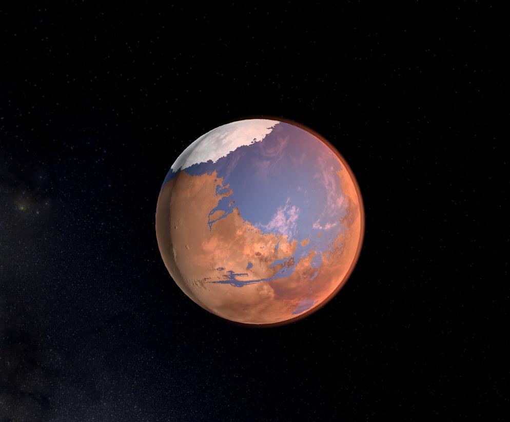 Terraformed Mars. Credit: Universe Sandbox².