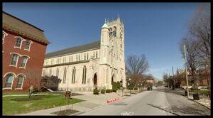 St. Louis Bertrand Church in Louisville, Kentucky, courtesy of Google Streetview.
