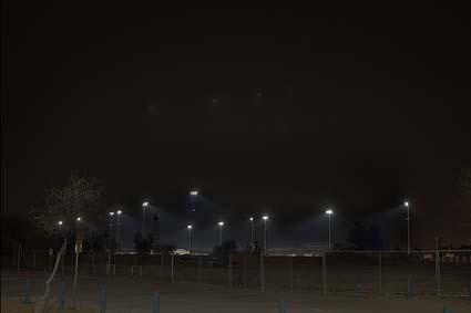 Partially shielded, downward directed lighting in Tucson, AZ. Credit: International Dark Sky Association