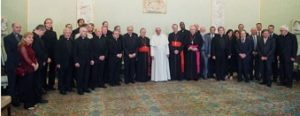 Pope Francis and participants at the symposium that was the genesis for this book.