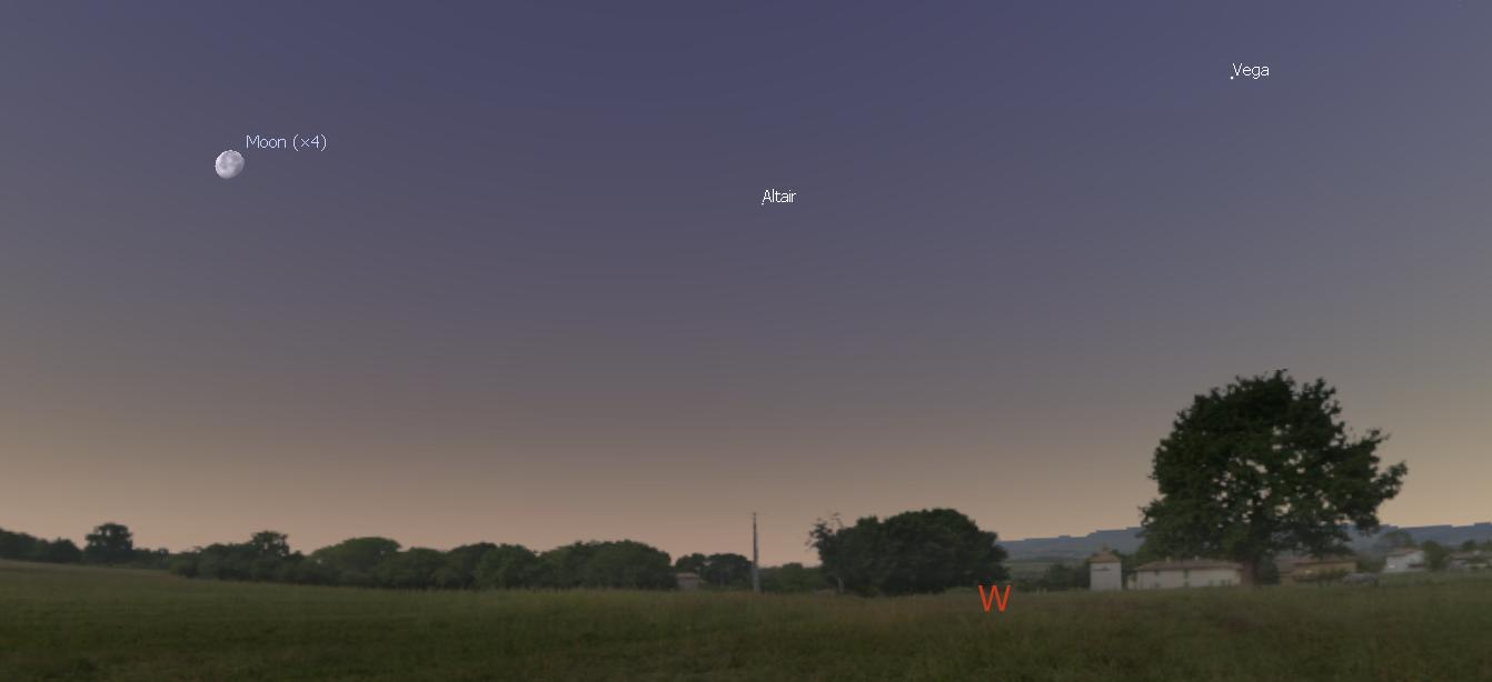 Vega and Altair at Dawn - July 12, 2017