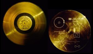 The Voyager Golden Record containing the recording
