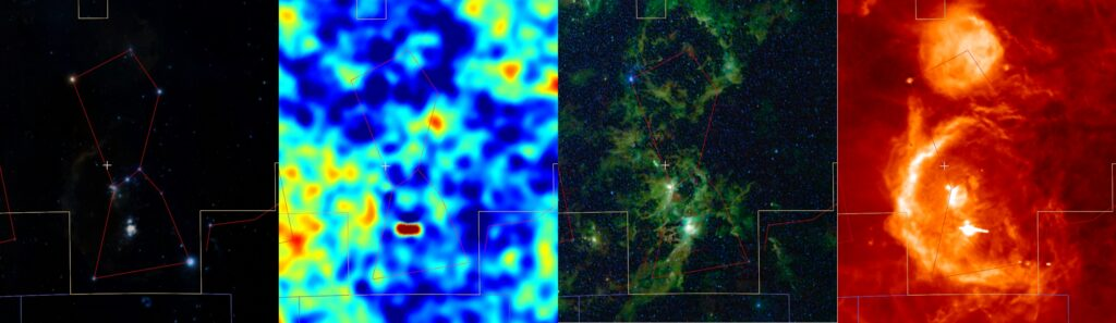 The constellation Orion seen in multiple wavelengths in Worldwide Telescope