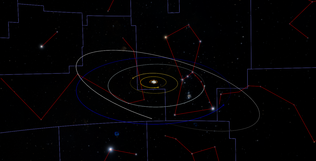 The Solar System viewed in Worldwide Telescope
