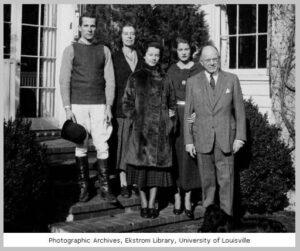 William Marshall Bullitt of Louisville, Kentucky, with his wife and family, 1935. Bullitt is at right, Nora Iasigi Bullitt is second from left.