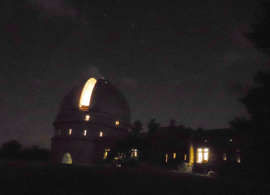The dome of the 40-inch at Yerkes Observatory, under the stars of the Big Dipper.