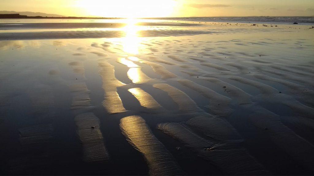 A little light thinking walk on sand Cross Beach Louisburgh Co Mayo - image by Deirdre Kelleghan