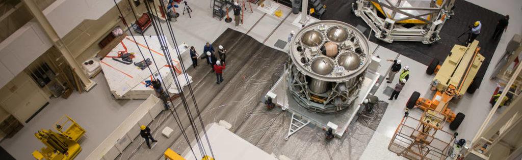 ESA's European Service Module at NASA Glenn's Plum Brook Station. Credits: NASA