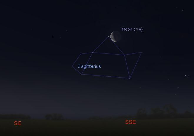 South-southeastern predawn sky