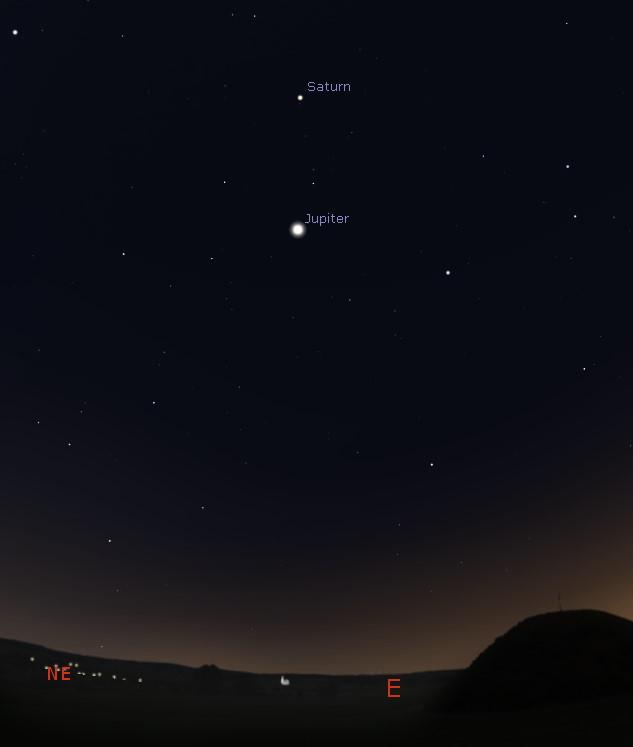 Eastern predawn sky from Port Hedland, Australia