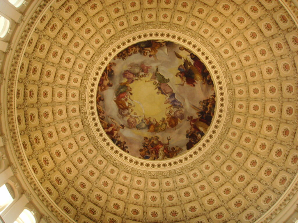 Painting on Dome of the U.S. Capital Building