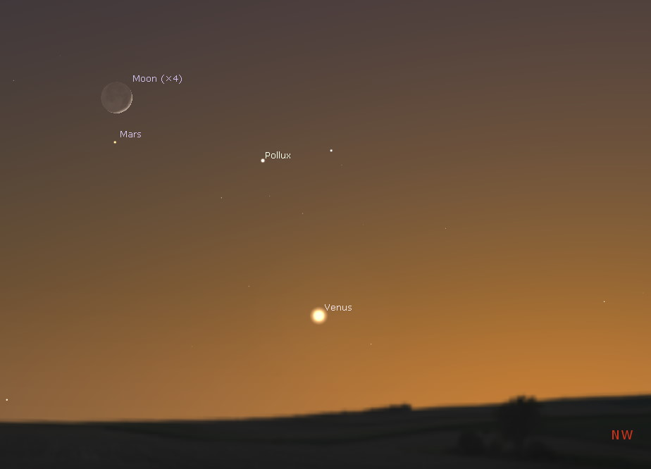 Conjunction with Mars and the Moon