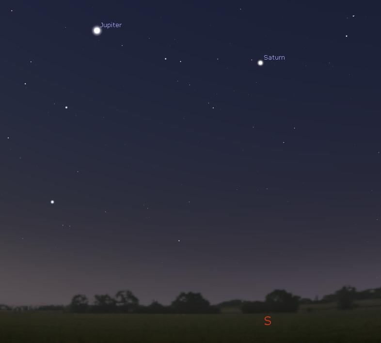 Southern predawn sky