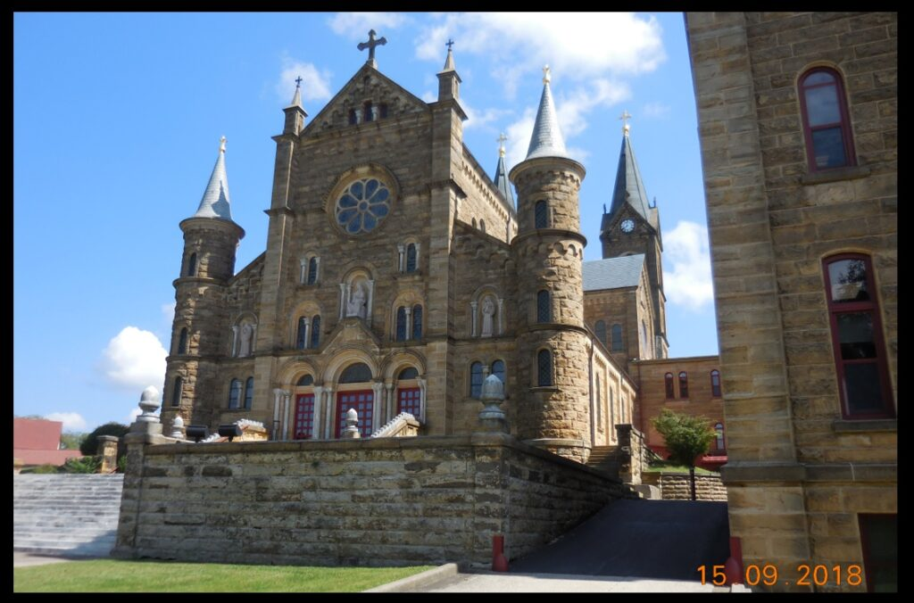 The church at St. Meinrad Archabbey in Indiana.