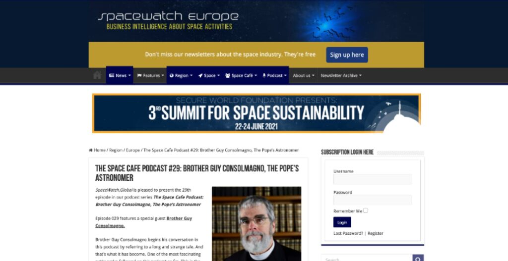 The Space Cafe Podcast with Br. Guy Consolmagno
