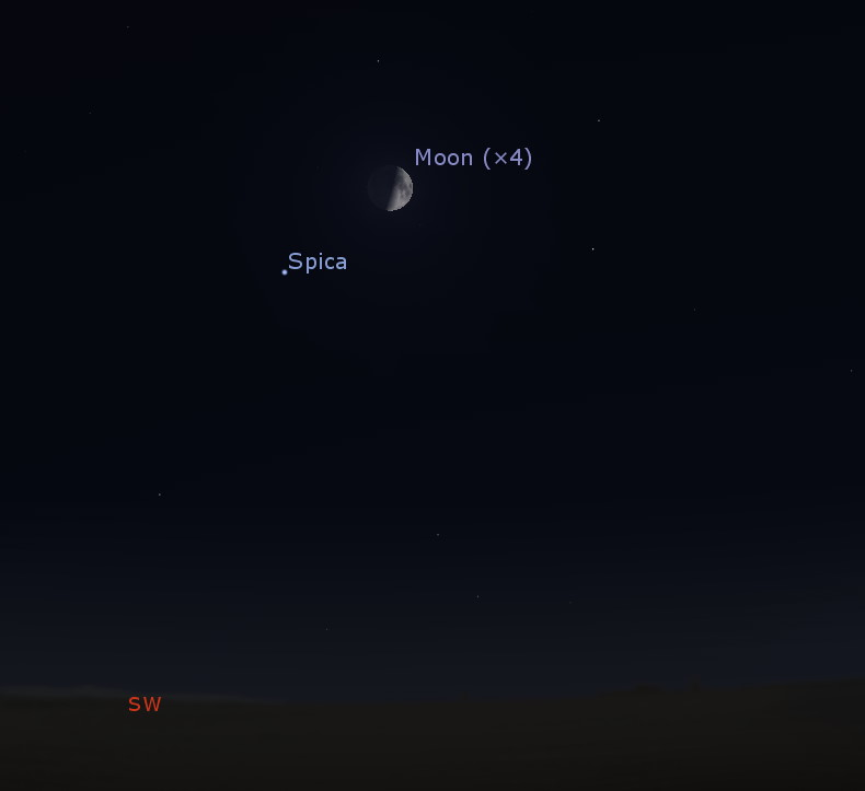 Conjunction of the Moon and Spica