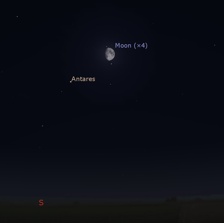 Conjunction of the Moon and Antares