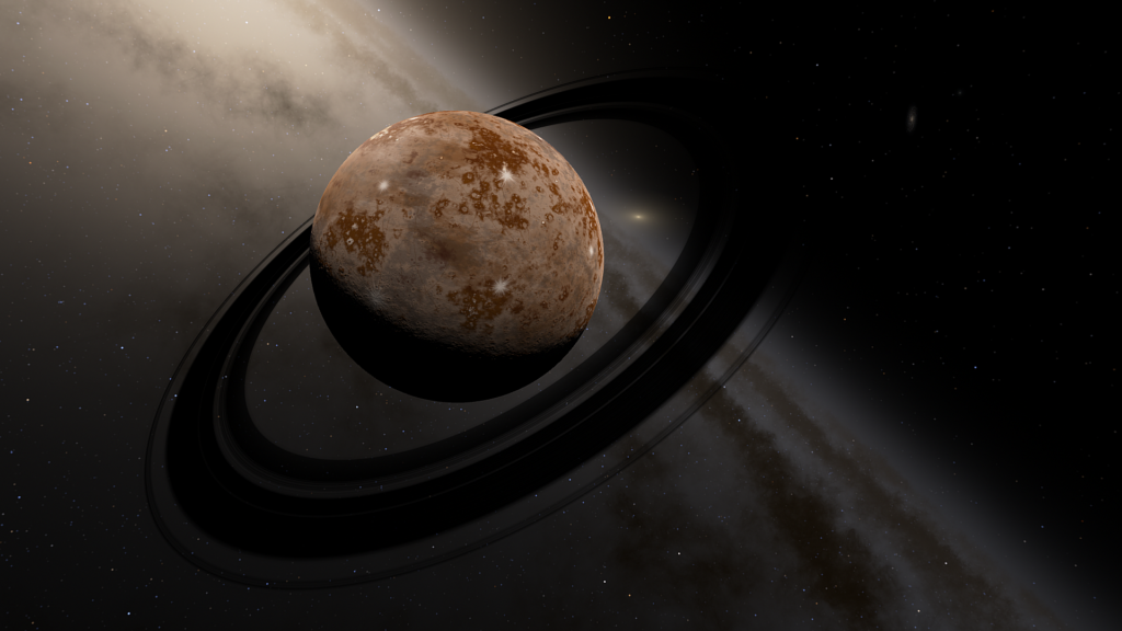 Artist's concept of an exoplanet in the Andromeda galaxy.