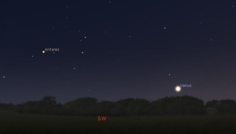 Southwestern sky after sunset