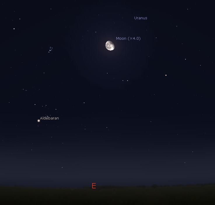 Eastern sky at midnight